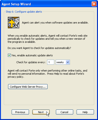 Step 6: Configure Update alerts