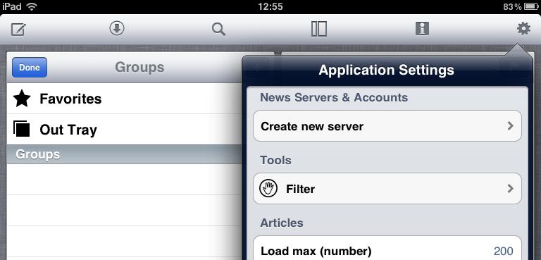 Application Settings