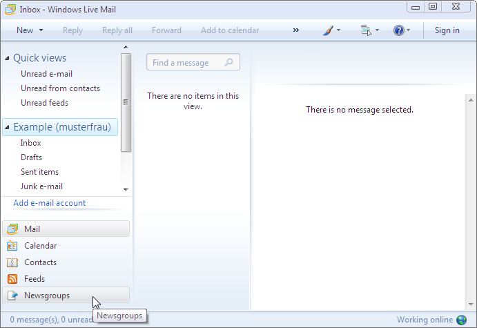 how to add contact in windows live mail